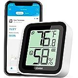 Govee Termómetro Higrómetro, Bluetooth Sensor Interior de Temperatura y Humedad con Alerta & 2s de Actualización, 2 Años Expo