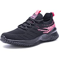 Women Athletic Walking Shoes - Slip On Trainers Running Sneakers Mesh Breathable Fashion