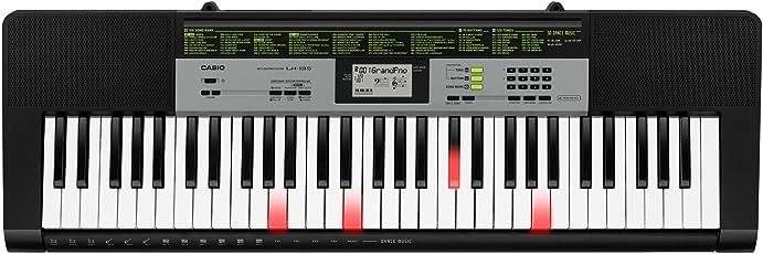 Casio LK-135 Tastiera digitale arranger polifonica 61 tasti luminosi e 23 note, Nera