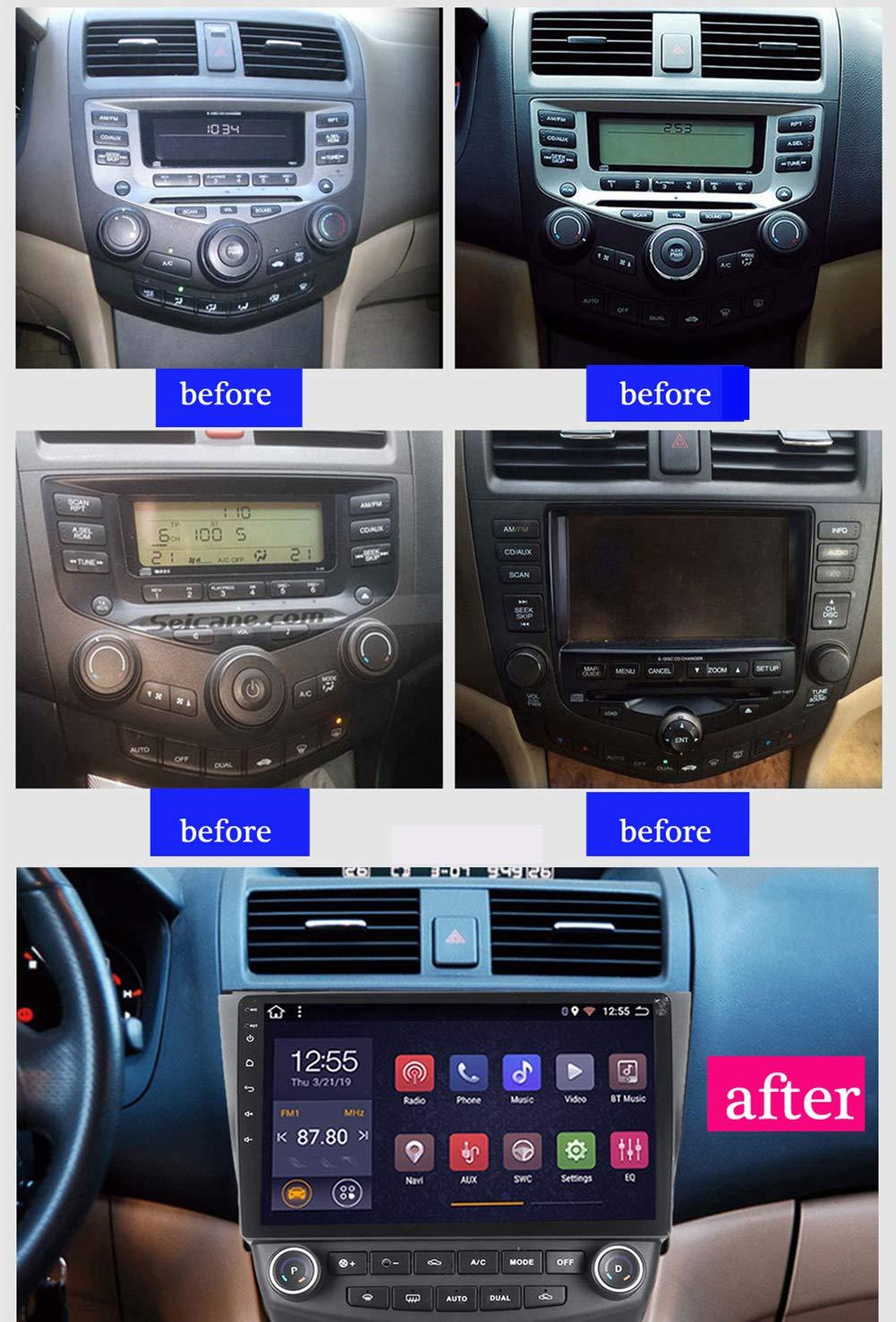 HARBERIDE-Android-81-Auto-Multimedia-Player-GPS-Navigation-fr-Honda-Accord-7-2003-2007-mit-Ultradnne-1080P-9-Zoll-UKW-Radio-WiFi-Bluetooth-Freisprechfunktion-Dual-USB-Lenkradsteuerung