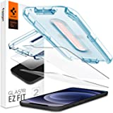 """Spigen, 2 Pack, iPhone 12 / iPhone 12 Pro Screen Guard (6.1""""), Glas.tR EZ Fit, Installation Kit Included, Case Friendly…"""