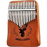 REAWOW Kalimba 17 Clés Pouce Piano Piano à doigts Mbira avec accordeur, sac de piano, manuel d'étude, Kalimba cadeau de enfan