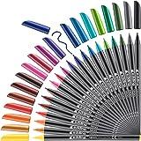 edding 1200 viltstift fijn - set met 20 heldere kleuren - ronde punt 1 mm - viltpunt voor tekenen en schrijven - voor school