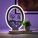 Aica LED Table Lamp gift for girlfriend boyfriend husband wife - Multicolor,Pack of 1