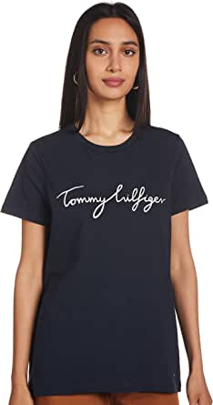 Tommy Hilfiger - Womens T Shirts - Tommy Hilfiger Women - T Shirt - Women's Heritage Crew Neck Graphic Tee