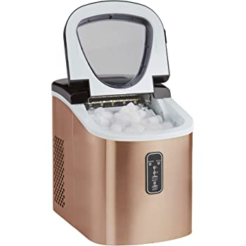 Ice Maker Machine Counter Top 13kg Capacity Fast Compact with Cube Size Option & No Plumbing Required Cooks Professional (Copper)