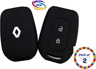 Genxtra Silicone Key Cover for New Renault Duster/Renault Kwid (Check Pics) (Set of 2 Pcs)