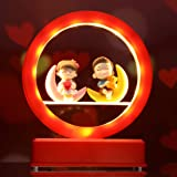 TIED RIBBONS Couple Showpiece Valentines Day Gift for Boyfriend Girlfriend Girls Boys Wife Husband (Led Light), Multicolour,