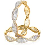 YouBella American Diamond Gold Plated Jewellery Bangles for Women and Girls
