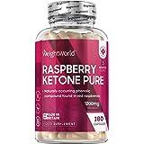 Cétone de Framboise Pure - 1200 mg - 180 Keto Gélules Vegan – 100% Naturel Raspberry Ketone Pure WeightWorld – Contient des c