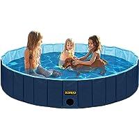 KOPEKS Pool Extra Groß ideal für Kinder/Haustiere Hunde 160x 30cm–marineblau und Himmelblau–XL–XXL