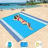 HISAYSY Stranddecke Picknickdecke 210 x 200 cm Strandmatte Sandfrei Wasserdicht Picknickdecke Outdoor Decke für den Strand,Ca