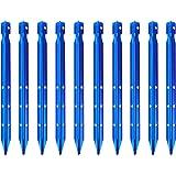 estacas de jard/ín estacas de tienda de campa/ña con gancho de 7 pulgadas 12 piquetas de aluminio para tienda de campa/ña estacas hexagonales para clavos estacas de acampada