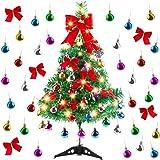 Migaven Albero di Natale da Tavolo, 24 inch Mini Albero di Natale in Artificiale con Luci a Stringa LED Ornamenti di Palla Fi