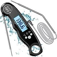 """Cocoda Thermometre Cuisine, Thermomètre Cuisson au Four Étanche avec 6,4"""" Double Sonde Longue & Minuteur, 3S Lecture…"""