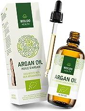 Bio-Arganöl kaltgepresst biologisches Serum für Gesicht 100ml - Haut Haare, 100% aus Marokko Gesichtspflege & Körper Öl
