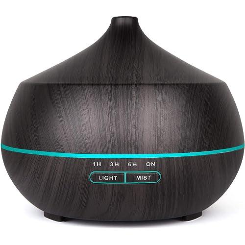 400ml Diffusore di Oli Essenziali, Tenswall Umidificatore Ambiente Diffusore di Aromi con 7 Colori LED,Senza BPA,Spegnimento Automatico