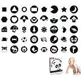 Hoog Contrast Zwart-Wit Baby Flash Kaarten, Kaarten Met Visueel Contrast Voor Baby's En Pasgeborenen, Geschikt Voor Baby's Va