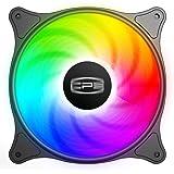 CP3 Ventilateur de boîtier 120 mm 3 broches couleur fixe haute performance ventilateur PC faible bruit boîtier ventilateur av