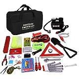 """Auto Emergency Kit, Multifunktionale Pannenwerkzeugsets mit Starthilfekabel, Werkzeugtasche und Pannenwerkzeug, Sicherheitsweste, Abschleppseil, Taschenlampe, Reifendruckmessgeräte (13 """"x8.7"""" x 6.7)"""