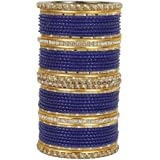 MUCH-MORE Base Metal and Crystal Bangles for Women's