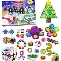 TAIPPAN Adventskalender Fidgets Toy, 24 Stück Pop it Fidget Sensory Toys, Weihnachtsgeschenkbox für Kinder, Stressabbau…