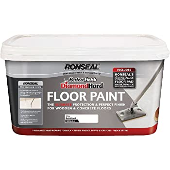Ronseal Dhfpwh25l 2 5l Diamond Hard Floor Paint White