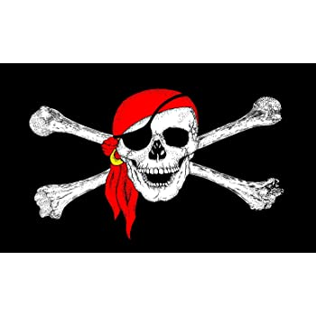 Country Flags 2 eyelets Pirates of the Caribbean Flag with