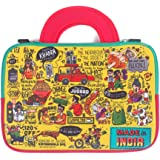 Chumbak Indian Collage Laptop Sleeve - 15inches