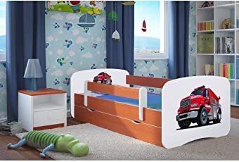 Kocot Kids Kinderbett Jugendbett 70x140 80x160 80x180 Calvados Mit  Rausfallschutz Matratze Schubalde Und Lattenrost Kinderbetten Für
