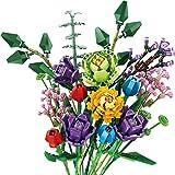 Dellia Boeket bouwstenen model, 999 delen Custom bloemenboeket Creator bloemen bouwstenen, klembouwstenen compatibel met Lego
