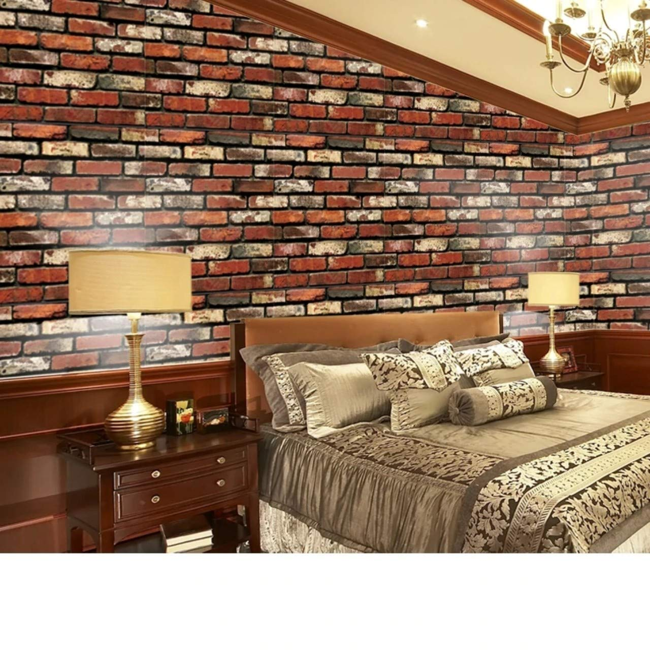 Univocean Modern Brick Wall 3d Wall Poster Wallpaper Wall Sticker Home Decor Stickers For Bedrooms Living Room Hall Kids Room Play Room
