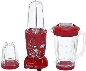 Wonderchef Nutri-Blend 63152296 400-Watt Mixer Grinder with 3 Jars (Red)