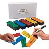ECENCE 75 Magneetstrips beschrijfbaar - 60x20mm Kleurrijk - kleefstrips om op maat te snijden - uitwisbare magneetplaten - Ma