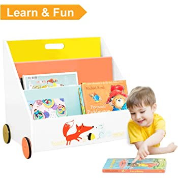 Children S Cardboard Bookcase Baby Amp Toddler Bookshelf Book Storage Box Amazon Co Uk