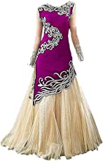 Yjack Creation Girl's Heavy Tapeta Silk Semi-Stitched Ethnic Lehenga Choli (Kidswear Gown_Free Size_8-12 year Girl)