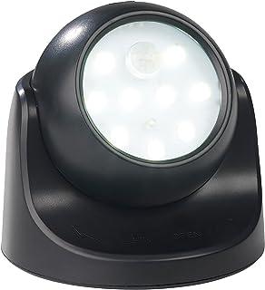 Schwarz2 Auto ON//OFF WOOPHEN Indoor//Outdoor Heller Funk-Bewegungsmelder LED Vorbauleuchte//Spotlight Batteriebetrieb