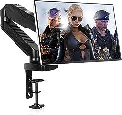 """Monitor Halterung SIMBR Monitorhalterung, Monitorarm, Monitor Tischhalterung mit 360° Drehbar Federarm und Kabelmanagement, für 15""""-27"""" Bildschirme mit VESA 75x75/100x100 mm, Max. Tragfähigkeit 6.5kg"""
