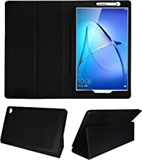 Fastway Tablet Flip Flap Case for Honor MediaPad T3 32 GB 8 inch with Wi-Fi+4G Tablet Front & Back Cover (Black)