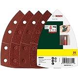 Bosch 25tlg. Schleifblatt-Set verschiedene Materialien für Multischleifer (Körnung 40/80/120/180, 11 Löcher)