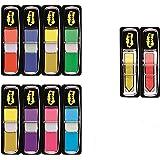 3M Post-It Index Mini Promotion - 8 x 35 Marcadores adhesivos, 2 x 24 Post-it Index flechas adhesivas 43.2 x 12 mm – colores