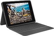 Logitech RUGGED FOLIO für iPad (7. Generation) Schutzcase mit integrierter Tastatur und Smart Connector (Modell: A2197, A220