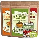NABALI FAIRKOST Zaatar & Dukkah & Sumach productos de calidad de Palestina I 100% natural aromático Tradicionalmente fresco O