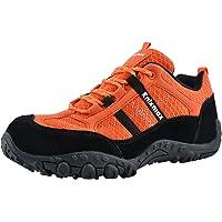 Knixmax Scarpe da Trekking Uomo Donna Outdoor Low Top Professionale Antiscivolo Traspiranti,Sneakers Nero Grigio Rosso