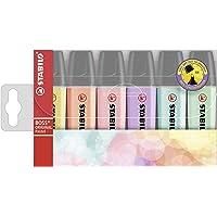 Surligneur - STABILO BOSS ORIGINAL Pastel - Pochette x 6 surligneurs - Coloris assortis