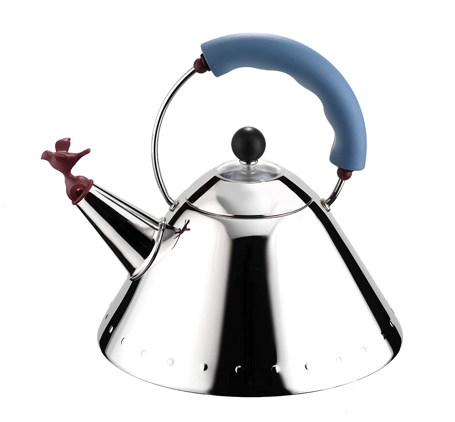 buy alessi michael graves kettle with bird whistle blue handle  - buy alessi michael graves kettle with bird whistle blue handle online atlow prices in india  amazonin
