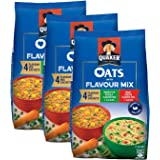 Quaker with Flavor Mix - 200 gm Pack of 3 | Nutritious Breakfast Cereals | Masala Oats | Ready to Cook