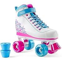 SFR Vision II Plus Enfants Roller Skate Rollerskates Skates Filles Femmes Roller Inliner Rose Blanc Violet Menthe