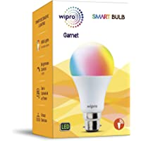 Wipro WiFi Enabled Smart LED Bulb B22 12-Watt (16 Million Colors + Warm White/Neutral White/White) (Compatible with Amazon Alexa and Google Assistant)