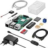 Vemico Raspberry Pi 3 Modell B+(B Plus) Basis Starterkit mit 32GB SD Karte Lüfter Gehäuse Kühlkörper CAT6 Netzwerkkabel Schraubendreher Netzteil und Cardreader